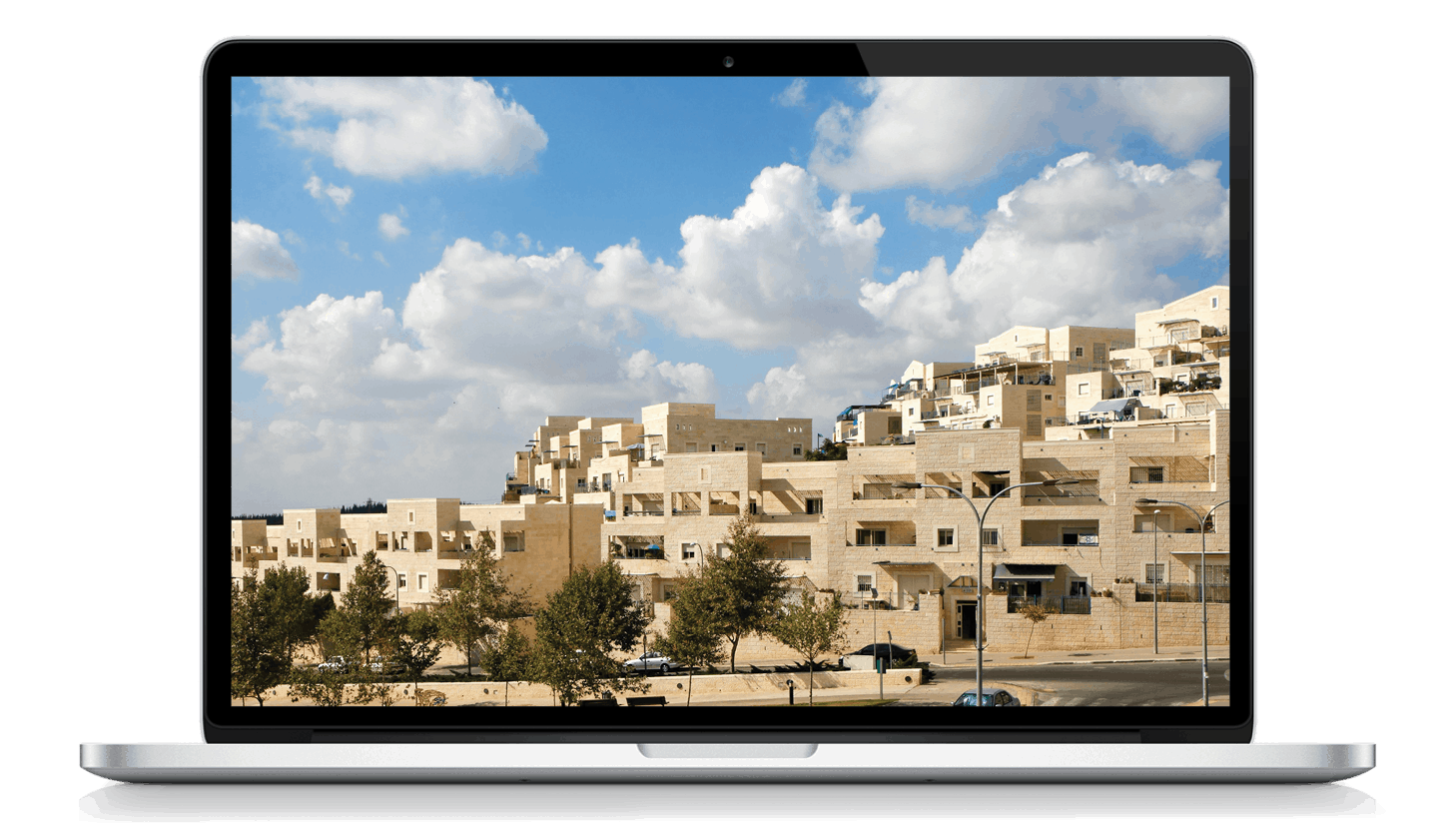 laptop with picture of Jerusalem